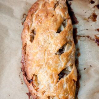 A traditional Cornish pasty.