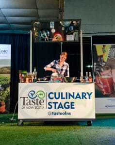 Kelly Neil Tatse of Nova Scotia Truro Exhibition Culinary Stage