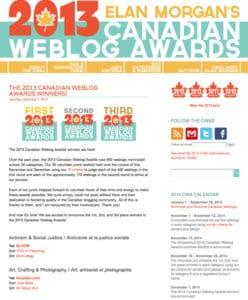 Kelly Neil 1st place Canadian weblog awards.jpg