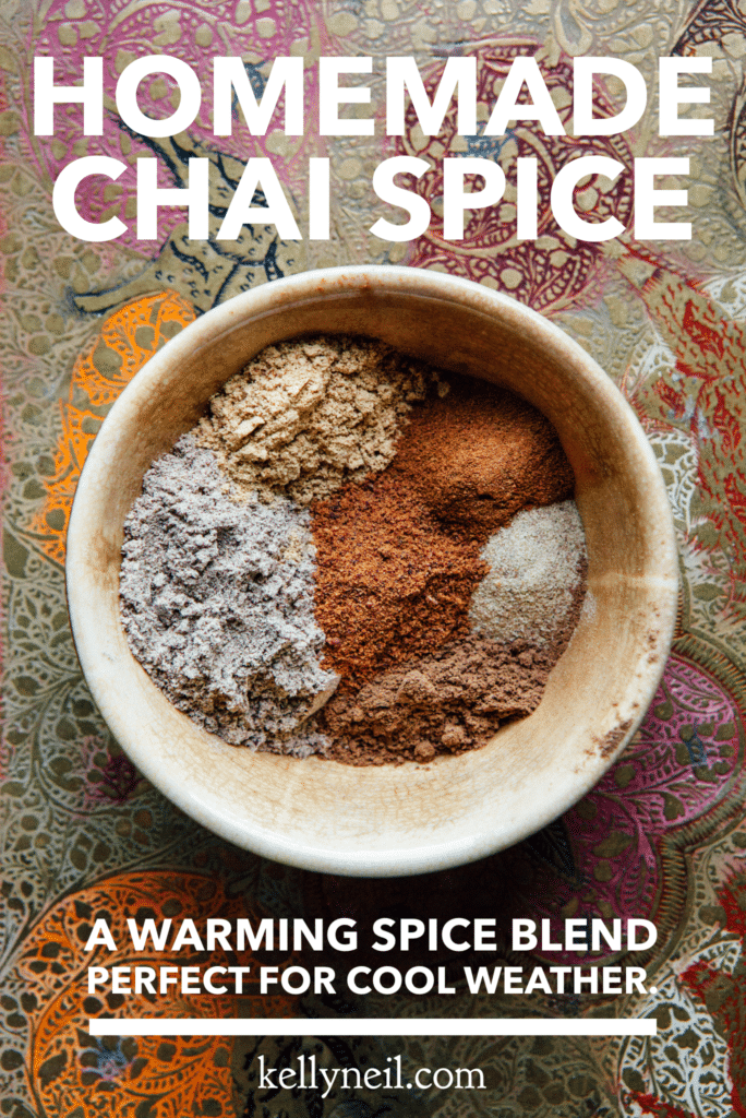 A bowl of unmixed homemade chai spice.