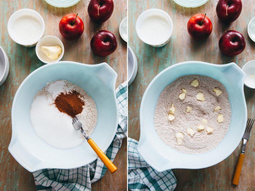 Process shots for quick bread recipe.